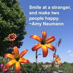 Smile at a stranger